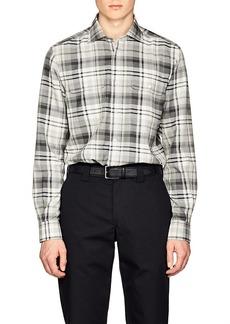 Ralph Lauren Purple Label Men's Plaid Cotton-Cashmere Flannel Shirt