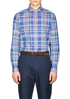 Ralph Lauren Purple Label Men's Plaid Cotton-Linen Shirt