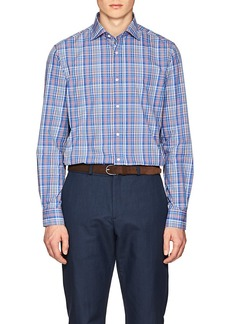 Ralph Lauren Purple Label Men's Plaid Cotton Poplin Shirt