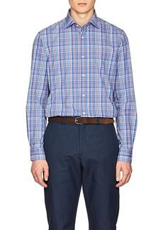 Ralph Lauren Purple Label Men's Plaid Cotton Poplin Shirt