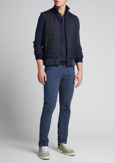 Ralph Lauren Purple Label Men's Quilted Reversible Zip-Front Vest