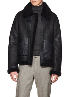 Ralph Lauren Purple Label Men's Shearling Flight Jacket