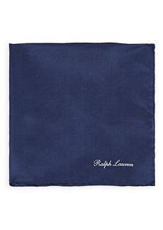Ralph Lauren Purple Label Men's Silk Habotai Pocket Square - Navy