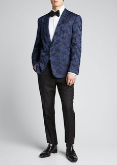 Ralph Lauren Purple Label Men's Silk Jacquard Dinner Jacket