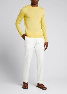 Ralph Lauren Purple Label Men's Solid Cashmere Crewneck Sweater