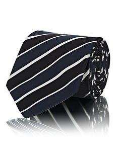 Ralph Lauren Purple Label Men's Striped Textured-Silk Necktie