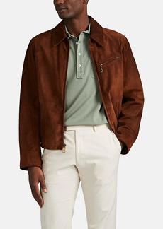 Ralph Lauren Purple Label Men's Suede Zip-Front Jacket