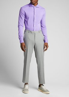 Ralph Lauren Purple Label Men's Washed Pique Sport Shirt