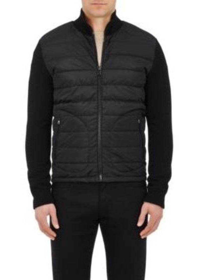 Ralph Lauren Purple Label Men's Wool-Blend & Down-Quilted Jacket-BLACK Size L
