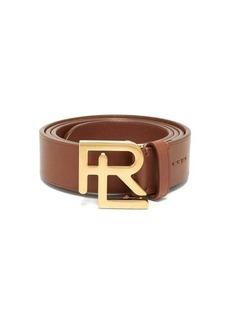 Ralph Lauren Purple Label Monogram-buckle leather belt