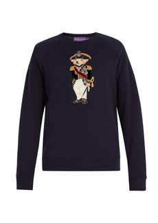 Ralph Lauren Purple Label Polo Bear appliqué cotton-blend sweatshirt