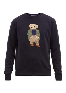 Ralph Lauren Purple Label Polo Bear-embroidered cotton-blend sweatshirt