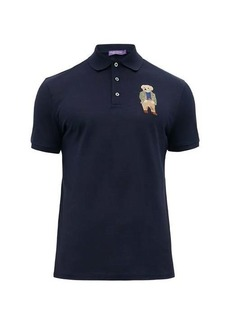 Ralph Lauren Purple Label Polo Bear-embroidered cotton polo shirt