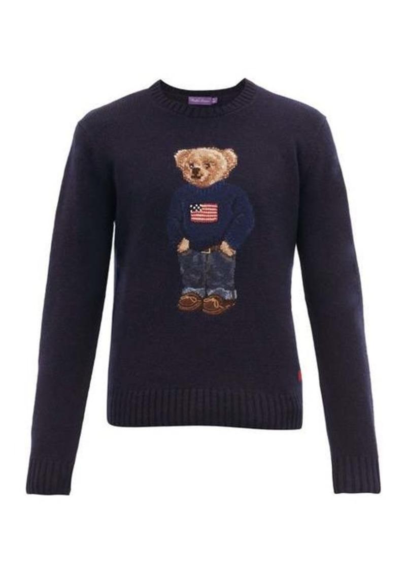 Ralph Lauren Purple Label Polo Bear-intarsia cashmere sweater
