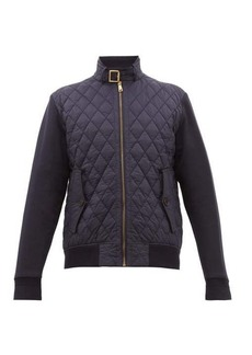Ralph Lauren Purple Label Quilted shell and jersey bomber jacket