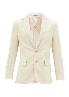Ralph Lauren Purple Label Single-breasted silk-blend suit jacket
