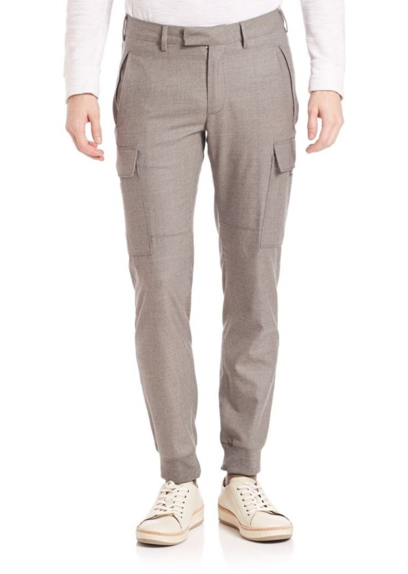Ralph Lauren Purple Label Slim-Fit Wool Cargo Pants