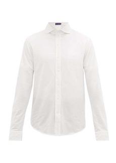 Ralph Lauren Purple Label Spread-collar cotton-pique shirt