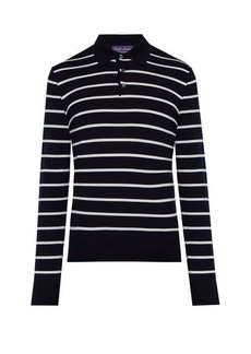 Ralph Lauren Purple Label Striped wool polo sweater