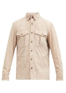 Ralph Lauren Purple Label Suede overshirt