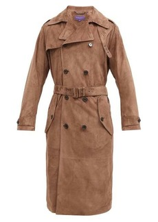Ralph Lauren Purple Label Suede trench coat