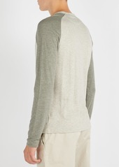Ralph Lauren Purple Label Two-tone long-sleeved T-shirt
