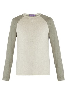 Ralph Lauren Purple Label Two-tone long-sleeved T-shirt