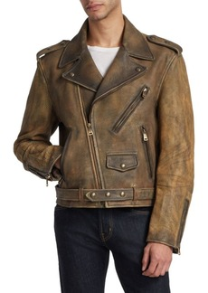 Ralph Lauren Vintage Cow Leather Locklear Biker Jacket
