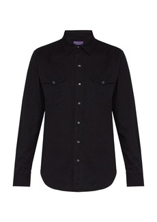 Ralph Lauren Purple Label Western button-fastening cotton shirt