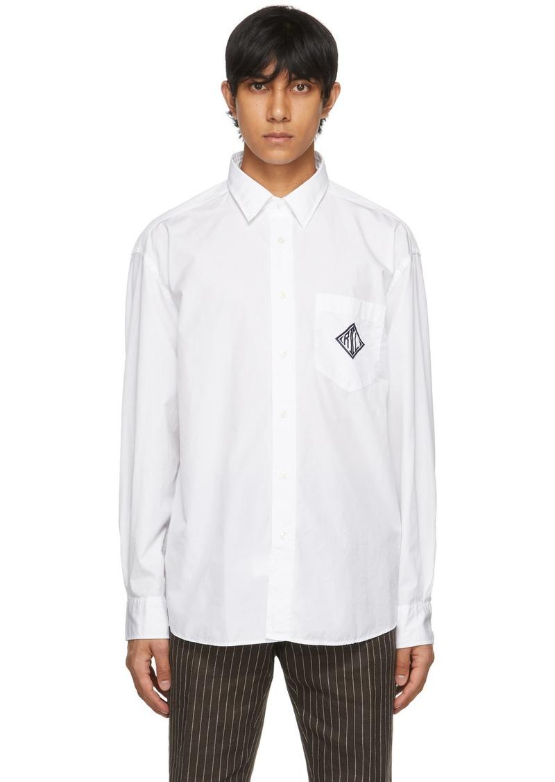 Ralph Lauren Purple Label White Poplin Monogram Shirt