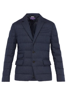 Ralph Lauren Purple Label Windheim single-breasted quilted coat