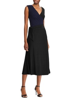 Ralph Lauren Self-Tie Jersey Midi Dress