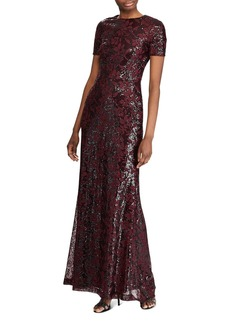 Ralph Lauren Sequined Evening Gown