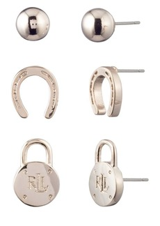 Ralph Lauren Set of Three Stud Earrings