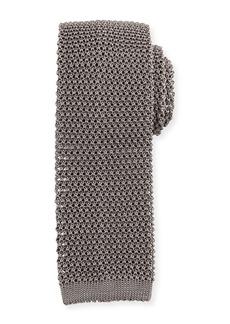 Ralph Lauren Silk Knit Flat-End Skinny Tie