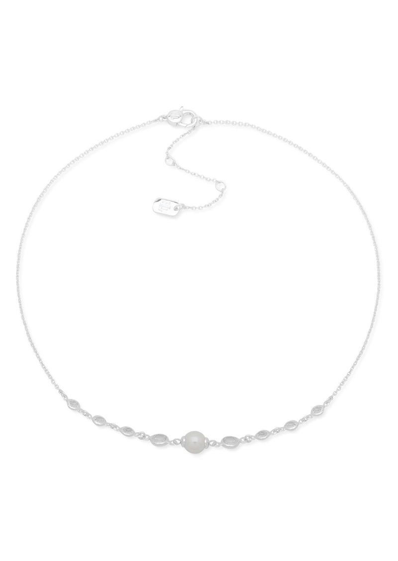Ralph Lauren Simulated Pearl Frontal Necklace, 16""