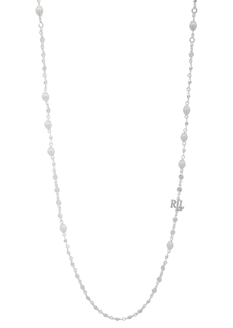Ralph Lauren Simulated Pearl Strandage Necklace, 42""