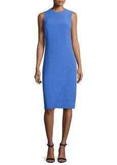 Ralph Lauren Collection Sleeveless Jewel-Neck Faux-Wrap Dress