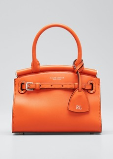Ralph Lauren Smooth Mini RL 50 Satchel Bag  Orange