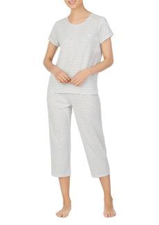 Ralph Lauren Striped Capri Pajama Set
