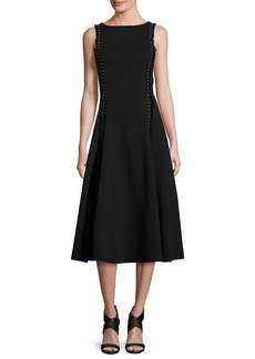 Ralph Lauren Studded Heavy Jersey Midi Dress