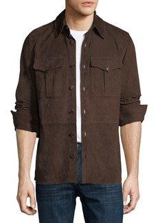 Ralph Lauren Suede Shirt Jacket