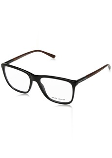 Ralph Lauren Sunglasses Men's Acetate Man Optical Frame Square Sunglasses Black 55 mm