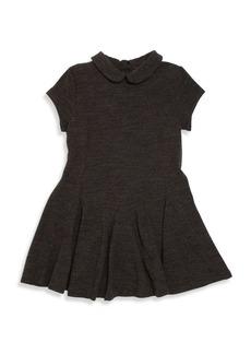 Ralph Lauren Toddler Girl's Peter Pan Collar Wool Blend Dress