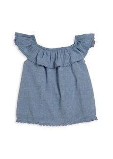 Ralph Lauren Toddler, Little Girls and Girls Chambray Top