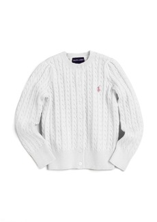 Ralph Lauren Toddler's & Little Girl's Cabled Cotton Cardigan