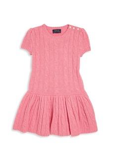 Ralph Lauren Toddler's & Little Girl's Cashmere Cable-Knit Dress