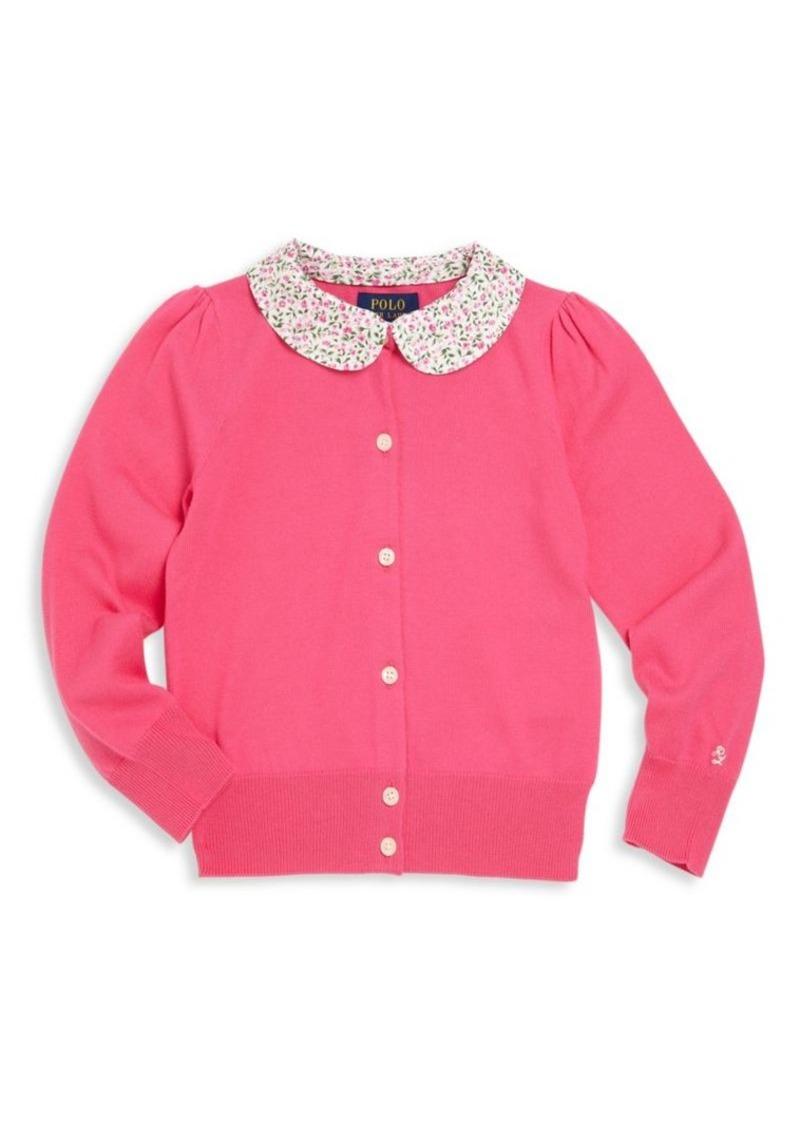Ralph Lauren Toddler's & Little Girl's Floral Collar Cardigan