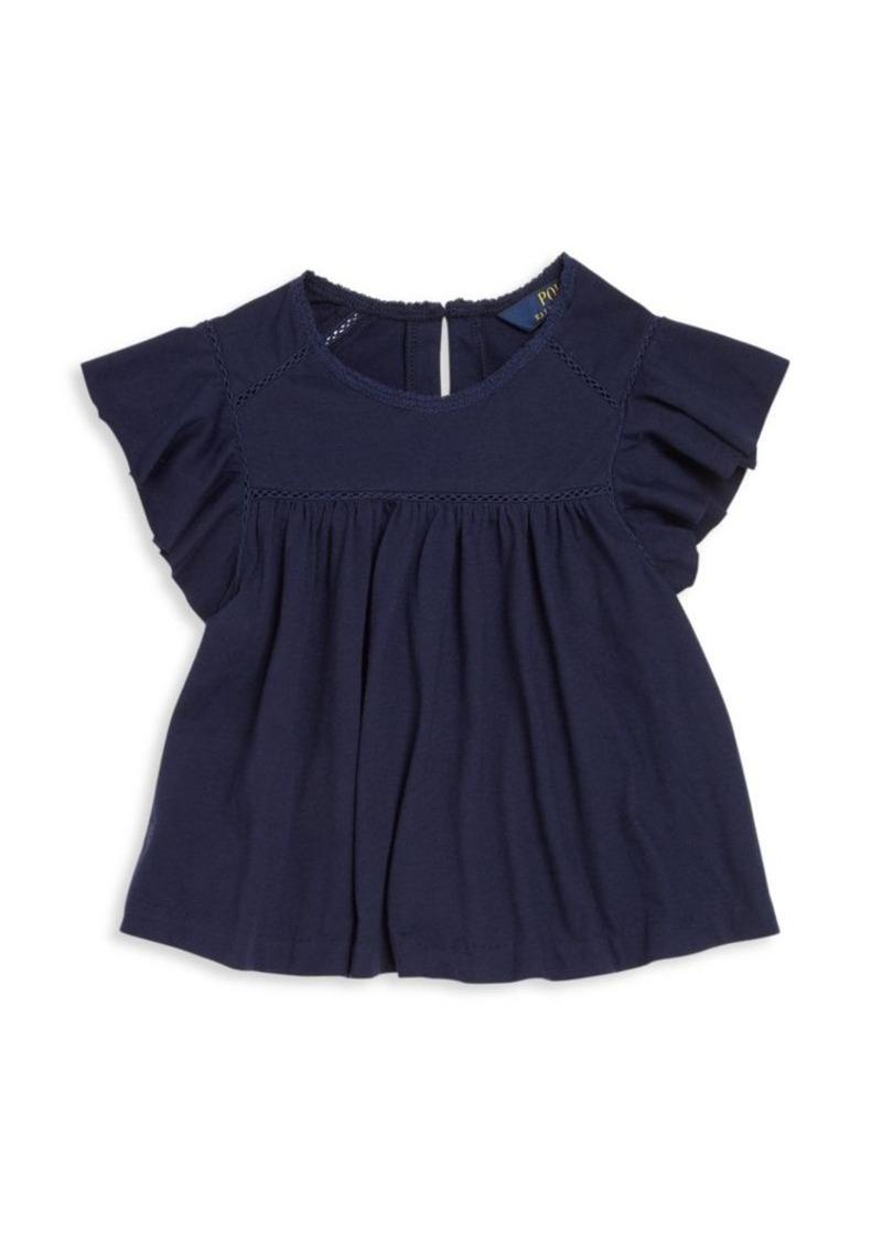 Ralph Lauren Toddler's & Little Girl's Jersey Ruffle Top