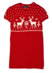 Ralph Lauren Toddler's & Little Girl's Reindeer Sweater Dress